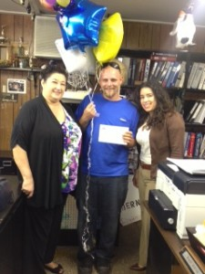 Perrish, of our CA PEO branch, won the extra vacation bonus for 2013