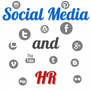 Social Media and HR - many different social media icons