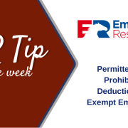 HR Tip of the week - Permitted and Prohibited Deductions of Exempt Employees