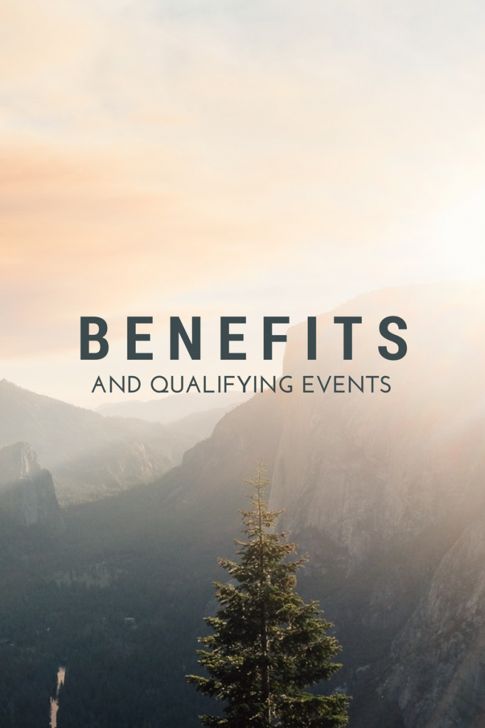 benefits and qualifying events