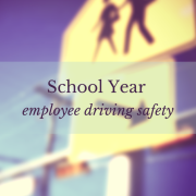 School crossing sign - School Year employee driving safety