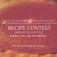 Pumpkin Pie with title - Let's create a cookbook. Submit a recipe and you could win. Send us your Favorite recipe to share with family and friends during the holidays and you could win! Recipe Contest, submit recipes bu oct 31st, Prizes will be awarded!