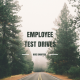 Road in the woods - Employee Test Drive