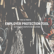 An old garage with a bunch of items hanging up on the wall and title - The ultimate employer protection tool alternate dispute resolution