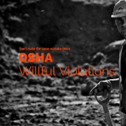 Worksite with a guy standing, looking at the camera with a shovel in his hand and title - Osha Willful Violation Dont Make The Same Mistake Twice