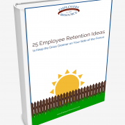 Book with a front cover title - 25 Employee Retention Ideas to keep the grass greener on your side of the fence.