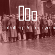 Old photo of many people standing in line, in front of a building. Title - Tips for Controlling Unemployment Costs