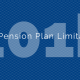 Title - 2016 Pension Plan Limitations with 401k in background