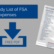 Piece of paper showing the FSA eligible Expenses for ERM with title - Your Handy List of FSA Eligible Expenses