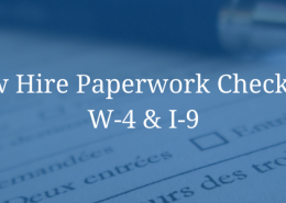 New Hire Paperwork Checklist: W-4 & I-9