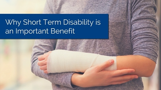 Person with cast on their arm with title - std benefits short term disability