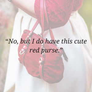 cute red purse our story image