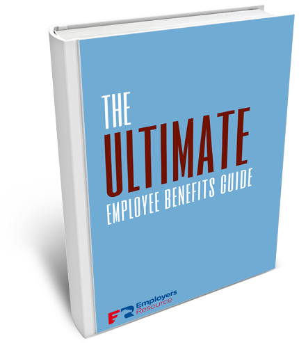 Book with Ultimate Employee Benefits Ebook on cover