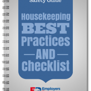 Spiral book with Safety Guide Housekeeping Checklist on the cover