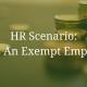 HR Scenario: Is This An Exempt Employee?