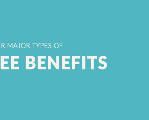 Featured image for The Four Major Types Of Employee Benefits with clip board.